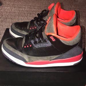 063b92e5392 Jordan Shoes - Men s Nike Air Jordan 3 III Retro Black Crimson